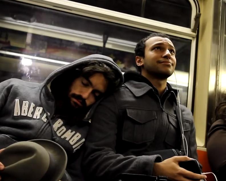 Sleeping On Strangers On The Subway