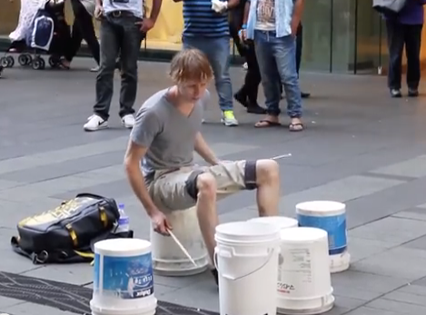 Incredible Street Drummer